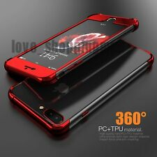 For iPhone 7 8 Plus Case 360 Hybrid Clear Ultra Thin Rubber Soft Silicone Cover