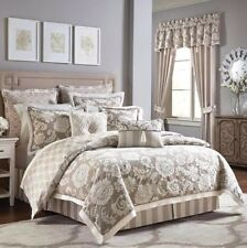 Croscill: New Anessa 4 pc Queen Comforter Set; Taupe, Latte, Beige, Ivory