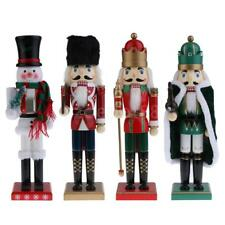 15'' Hand Painted Christmas Holiday Nutcracker Puppet Doll Wooden Ornaments