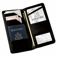 Royce Leather Royce Nappa Leather Checkpoint Passport Case