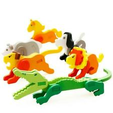 3D Wood Small Animal Child Assembly Jigsaw Puzzle Education Toys for Children