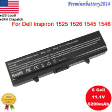 New 5200mAh Battery for Dell Inspiron 1525 1526 1440 1545 1546 1750 GW240 6Cell