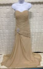 Champagne Women's Sweetheart Mermaid Long Evening Dress Formal Prom Gown, size 8