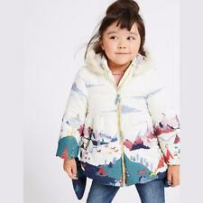 Girls Thick Warm Coats with Fleece Hooded Children Outerwear Down