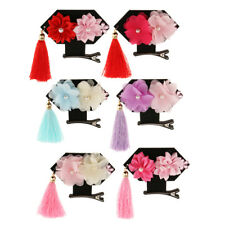 Hair Accessories Princess Tassel Lace Flower Hair Clip Alligator for Baby Girl