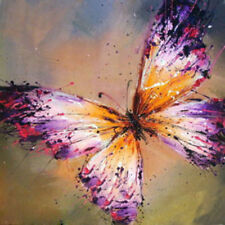 """20*20"""" Abstract Art Canvas Oil Painting Butterfly Hand-painted /NO Frame"""