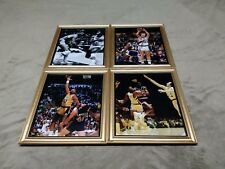 Magic Johnson Kareem Abdul-Jabbar Jerry West Wilt Chamberlain 8x10 Framed Photo
