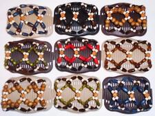 """Double Magic Hair Combs, Angel Wings Clips 4x3.5"""", African Butterfly,Rosebuds S5"""