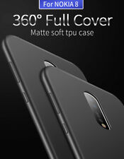 X-Level 360° Full Cover Matte Soft TPU Slim Rubber Back Case For Nokia 8 /6 S001