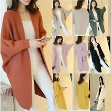 Women Oversize Batwing Sleeve Knitted Sweater Loose Cardigan Outwear Coat lot WH