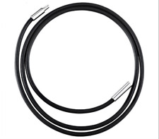 "1pc 16-30""genuine 3mm thong cord choker necklace stainless steel bayonet clasp"