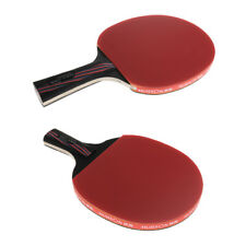 Carbon Table Tennis Racket Paddle Ping-Pong Bat with Case Short Long Handle