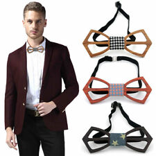 Fashon Men And Women Bow Tie Real Natural Handmade Wooden Bowtie Vintage Wood @G