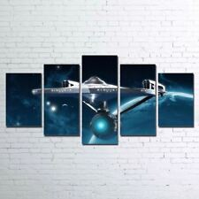 Star Trek 5 Panel Wall Art on Canvas Abstract Home Decor Poster
