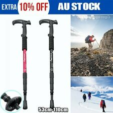 NEW Hiking Trekking Poles Walking Sticks Adjustable LED Anti Shock W0