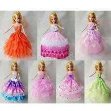 Handmade Mini Dress Gown Wedding Dress Party Clothes for Barbie Dolls Toys