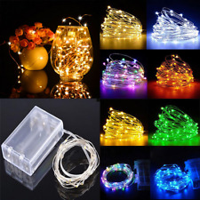 Battery LED Fairy String Light Indoor Outdoor White Wedding Christmas Tree Party
