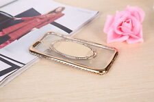 Woman Luxury Rose Gold Mirror Diamond TPU Cell Phone Case for iPhone 6 7 plus*~*