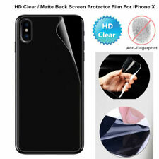 Back Screen Protector For iPhone X HD Clear Matte Anti-Glare Skin Cover Film Lot