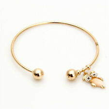 Fashion Women Alloy Big Eyes Owl Thin Bangle Cuff Bracelet Jewelry Chic