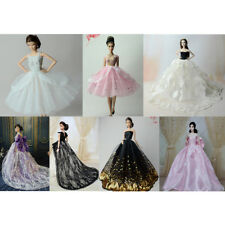 Fashion Handmade Princess Dress Wedding Clothes Gown for Barbie Dolls Gift