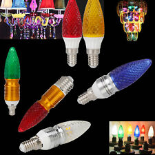 Colorful LED Chandelier Candle Light Bulb E14 E27 220V - 240V 25W 50W Equivalent