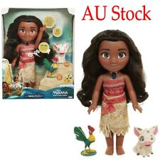 AU Singing Princess Moana Friends Action Figures Doll Light & Movie Song Kid Toy