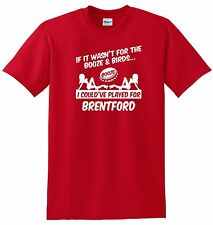 BRENTFORD FANS THEMED BOOZE AND BIRDS T-SHIRT