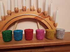 Handmade glitter spark, scented candle, Christmas decor - various colors
