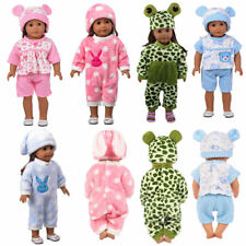 Baby Born Doll Clothes Fit Girl Doll Jumpsuit Suit Doll Pajamas Sleeping Clothes
