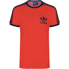 Adidas Mens Trefoil Orange California Tees Crew Neck Retro T Shirts UK S M L XL
