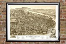 Vintage Chattanooga, TN Map 1886 - Historic Tennessee Art - Old Industrial