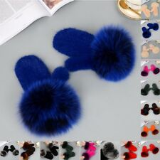 Best christmas gifts womens real mink fur knitted mittens gloves one size Warm
