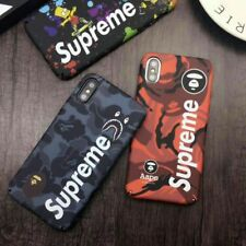 A Ape Bape Supreme Luminous Army Case For iPhone X  iphone 6 7 8 plus 7 plus 6s