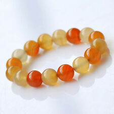 Fashion Natural Red Agate Round Bead Stone Stretch Women Mens Bracelet 6 to 14mm