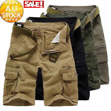 Stylish Men's Work Sports Shorts Pants Casual Cargo Baggy Combat Army Trousers