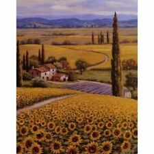 Mediterranean landscape wall art on canvas print Sunflower Field for home decor