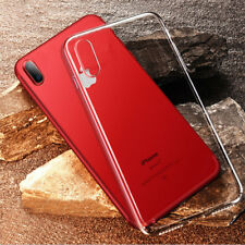 For iPhone X 6 6s 7 8 Plus SE Case Clear Shockproof Hybrid TPU Bumper Hard Cover