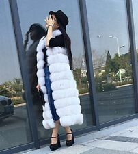 Long Womens Fashion Warm Gilet Vest Outwear Overcoat Winter Faux Fur Coat Jacket