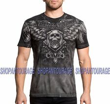 XTREME COUTURE Imperial Death X1647 Men`s New Charcoal T-shirt By Affliction
