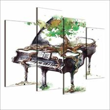 4 Piece Canvas Art Abstract Piano Print Music Wall Pictures for Living Room