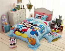 Minnie and Mickey Club house Printed Bedding Sets for Girls Full Queen Twin Size