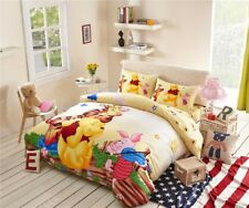 Winnie the Pooh Tigger Piglet Bedding Set for Girl Single Twin Full Queen Yellow