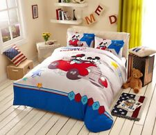 Disney Cartoon Mickey and Minnie Mouse Travel Comforter Bedding Set for Kids