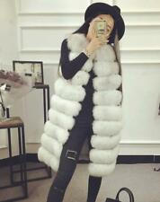 Women Long Warm Coat Faux Fur Vest Jacket Ladies Slim Outwear Warm Vest Overcoat