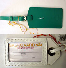 Vera Bradley Baekgaard Luggage Tag Leather Patent Leather Coconut or Kelly NWT