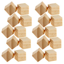 20pcs Wood Unfinished Wooden Blocks Wood Pieces Unpainted Handmade Crafts