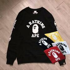 Unisex Japan Version Bape Crew Sweater Little Monkey Head Jacket New Style Coat