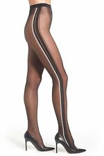 Wolford Rahel Tights  small black with stripe New