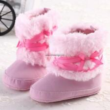 Infant Baby Boy Girl Warm Snow Boots Toddler Kid Soft Shoes Booties NC89